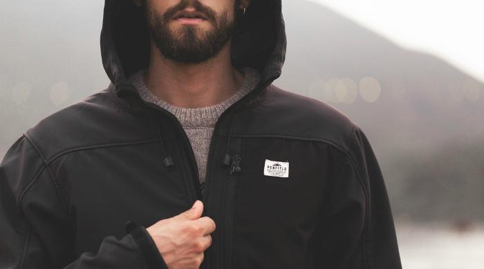 A male model wearing a Penfield hoody.