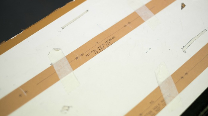 A templates at the Tripl Stitched factory.