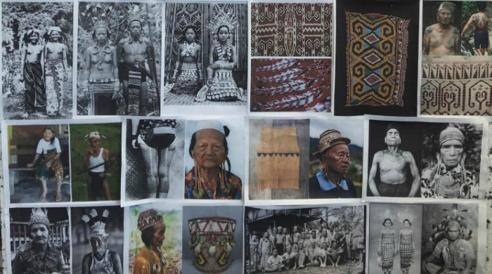 A mood board by Christopher Raeburn featuring tribes.