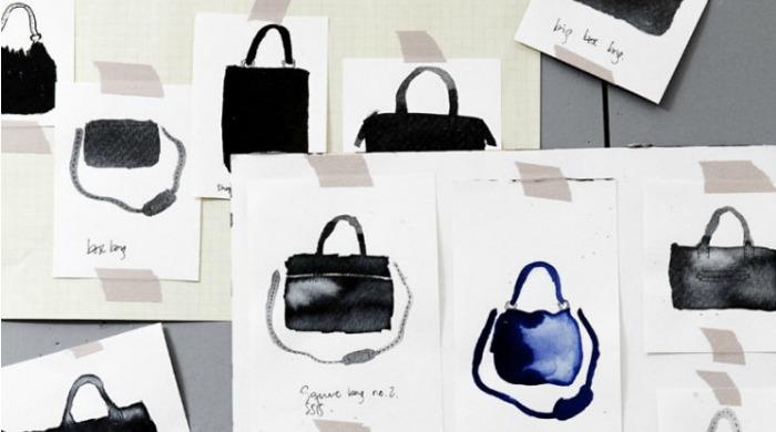 Sketches of Yvonne Koné bags.