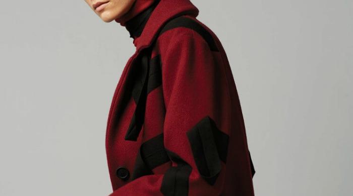 A model wearing Christopher Raeburn AW16 clothing.