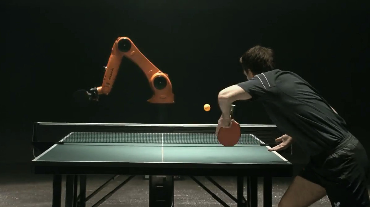 kuka fastest robot in the world ping pong