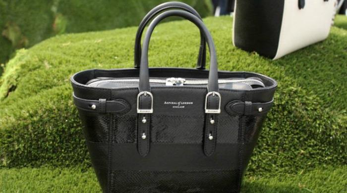 A handbag in the Aspinal of London SS16 London Fashion Week presentation.