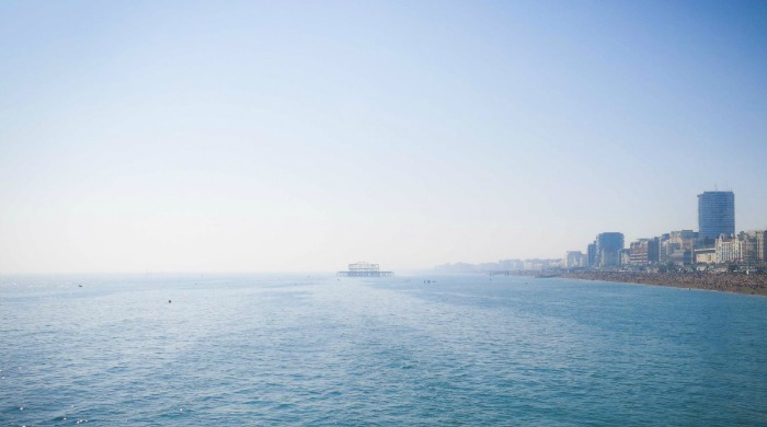 A view of the sea from the 'It's a Brighton Thing' series by Azzurra Biagi.