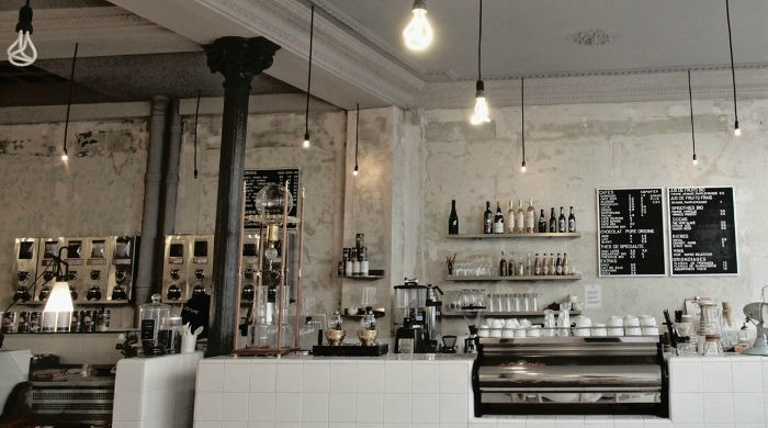 The interior of Coutume Café in Saint-Germain.