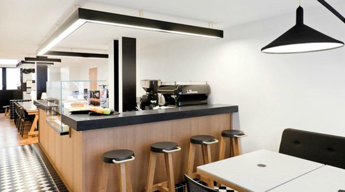 The interior of Café Craft near the the Canal Saint-Martin.