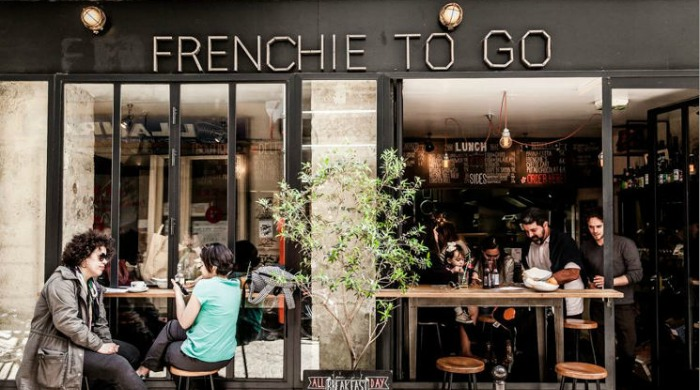 The front of the Frenchie To Go cafe in Paris.