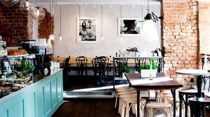 The interior of Café Pascal.