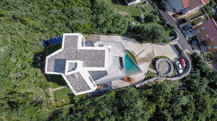 gumno house croatia aerial view