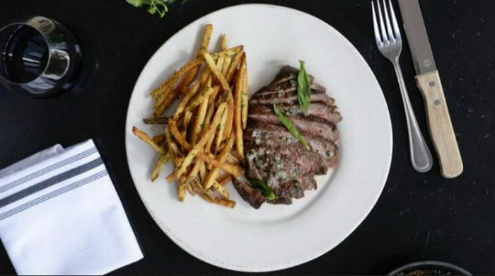 Steak and chips from Golden Fig.