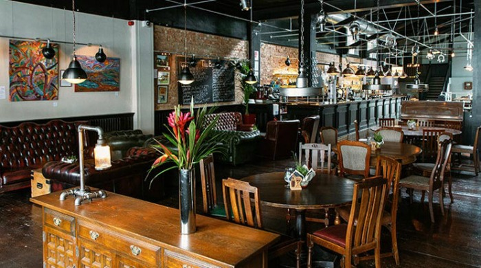 The interior of The Bohemia pub in London.