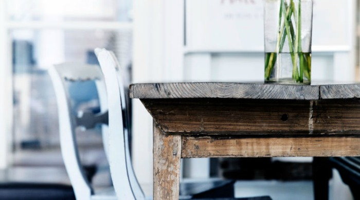 Rustic furniture at Atelier September.