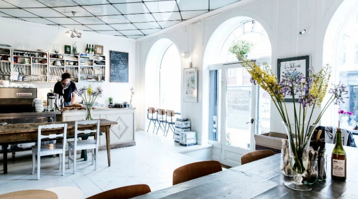 The bright and airy interior of Atelier September.