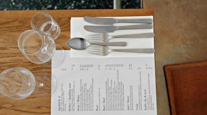 The menu at Restaurant Cofoco.