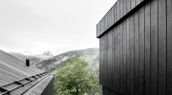 The roof of Wohnhaus Pliscia 13 by Pedevilla Architekten.