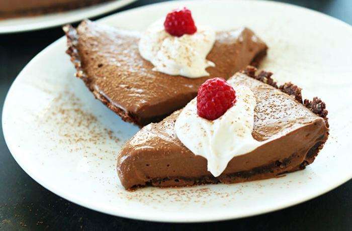 Vegan Chocolate Silk Pie