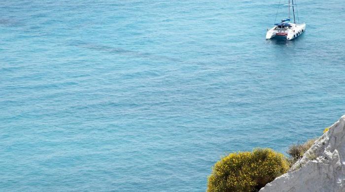 A view of the sea near the La Settima Luna Hotel, Lipari.