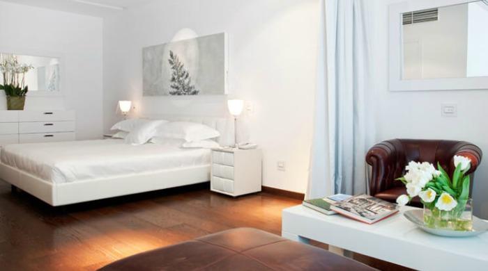 A room in Hotel Magna Pars Suites, Milan.