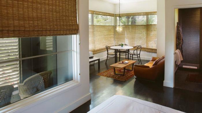 A living area in the Hotel Saint Cecilia, Austin.