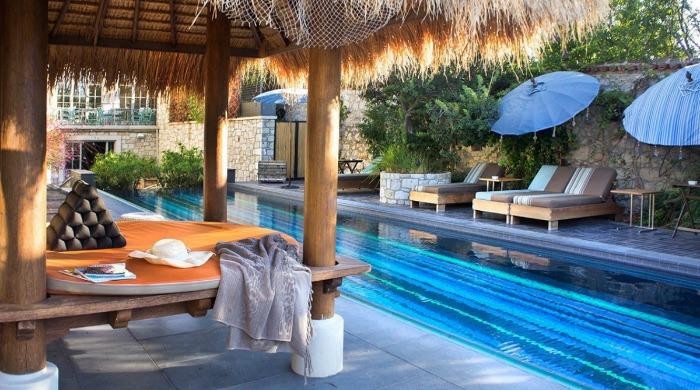 The pool in Alavya, Alaçatı.