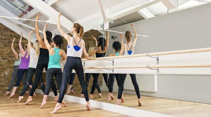 Alternative fitness class Barre at Triyoga.