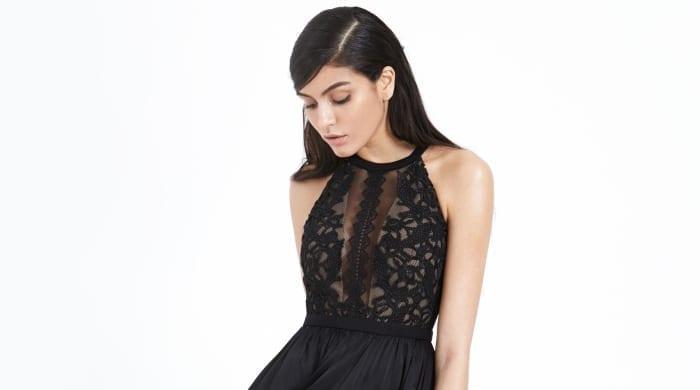 Three Floor Black Dress