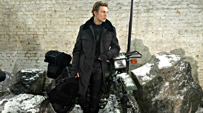 Male model wearing the Belstaff AW16 range.