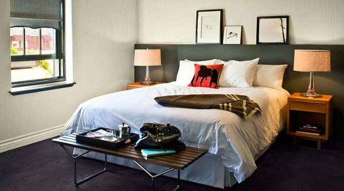 A bedroom in Palihouse West Hollywood.