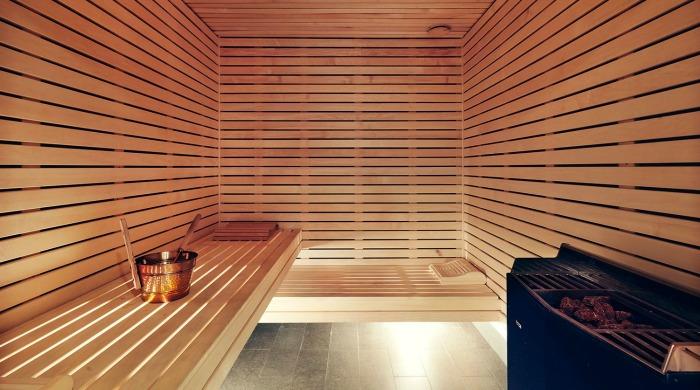 A sauna in Miss Clara Hotel, Stockholm.