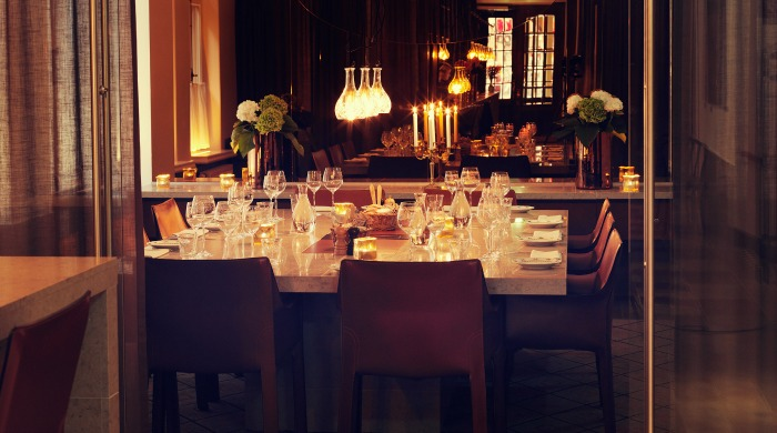 A dining table in Miss Clara Hotel, Stockholm.