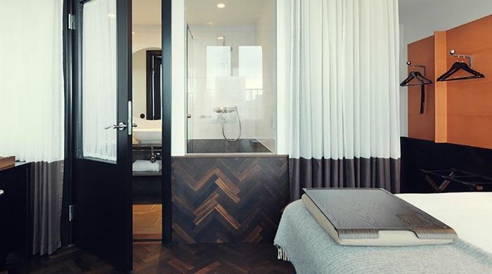 A bedroom in Miss Clara Hotel, Stockholm.