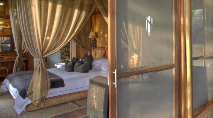 A room in the &Beyond Xudum Okavango Delta Lodge.