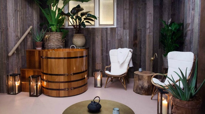 Part of the spa in the South Kensington Club.