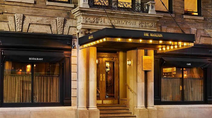 The front entrance of The Marlton, NYC.