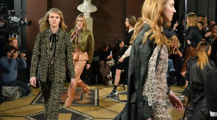 Models on the runway wearing Baum und Pferdgarten AW16.