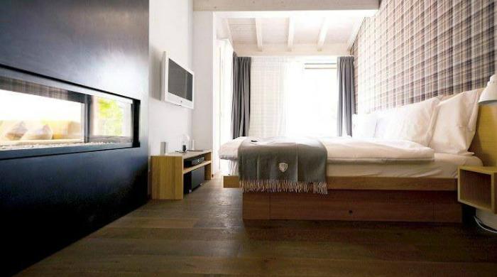 A bedroom in CERVO, Zermatt.