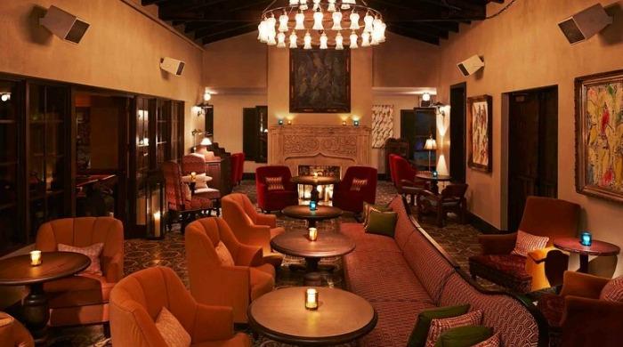 A lounge area in the Thompson Miami Beach hotel.