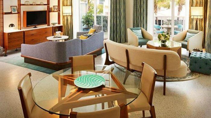 A room in the Thompson Miami Beach hotel.