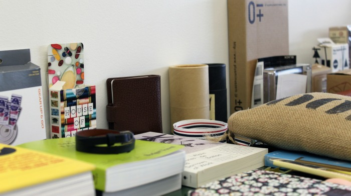 A selection of books and boxes at the Want les Essentiels de la Vie head office.