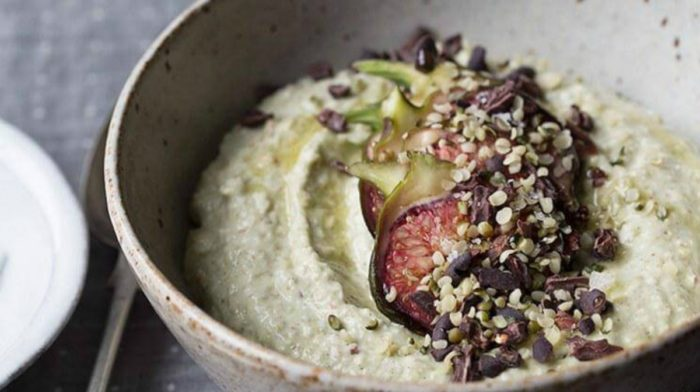 Buckwheat Porridge with Figs and Cacao Nibs