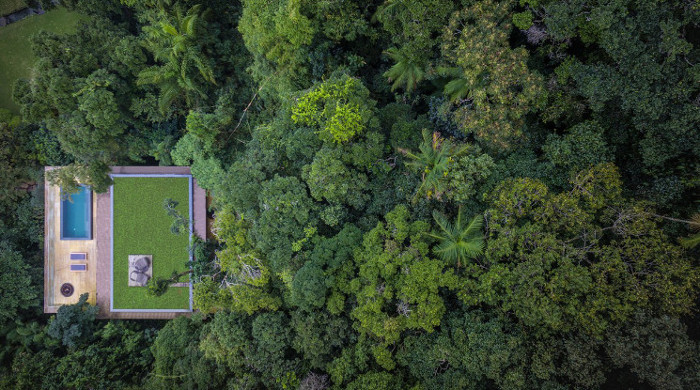 jungle house brazil aerial view