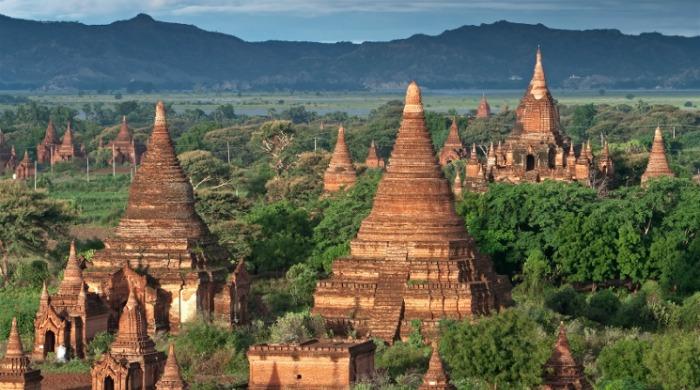 Ancient temples in Bagan, Burma.
