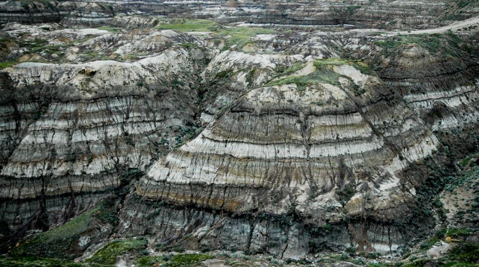 A large rock formation by Heather Grieve.