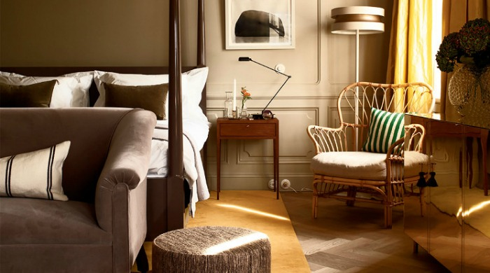 A bedroom in the Ett Hem hotel, Stockholm.