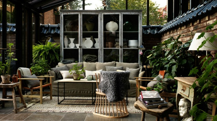 A conservatory in the Ett Hem hotel, Stockholm.