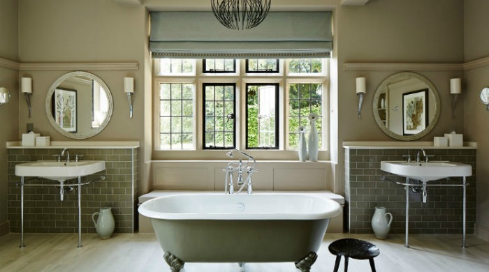 A bathroom in Foxhill Manor, Cotswolds.