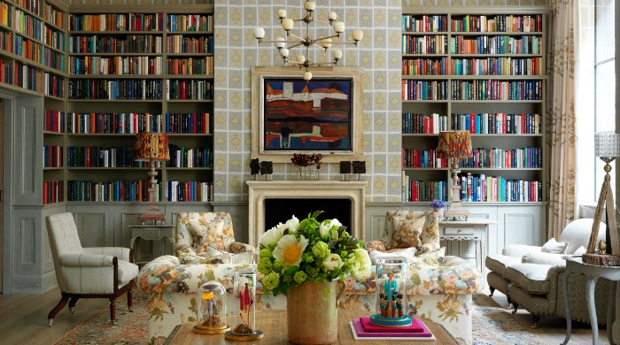 A library in the Ham Yard Hotel, London.