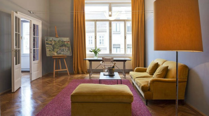 A living area in Hotel Altstadt, Vienna.
