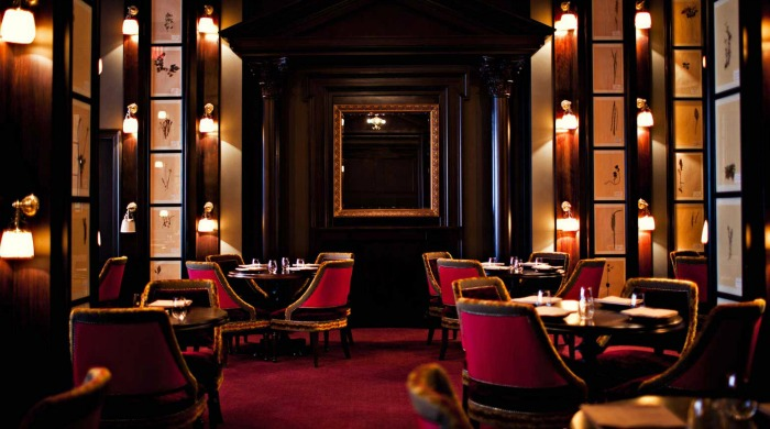 A dining area inside the NoMad Hotel, New York.