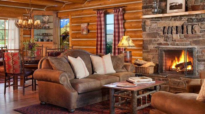 A living area at The Ranch at Rock Creek.